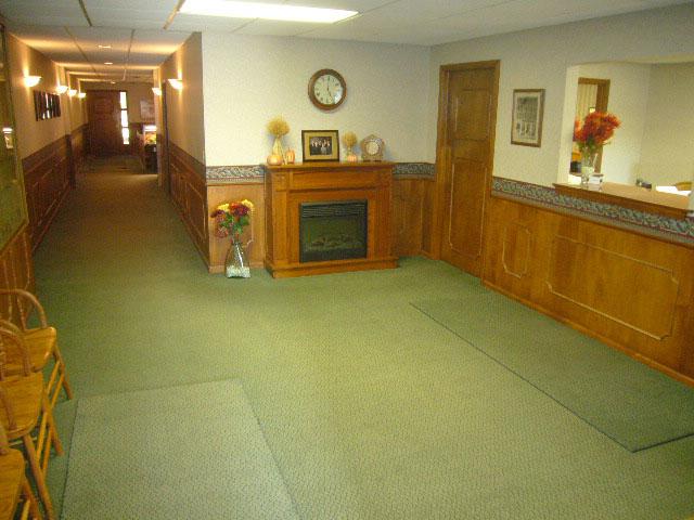 Schroeder-DeGraw building interior green